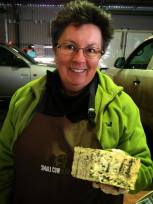 Leslie, from Small Cow Farm, with my favourite blue cheese